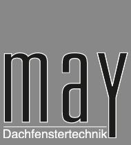 May Dachfenstertechnik Düsseldorf für Velux, Roto & Braas Dachfenster Logo